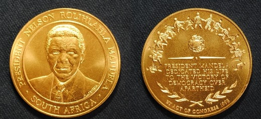 Mandela Congressional Gold Medal c